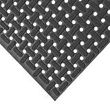 "kitchen flooring ideas Rubber-Cal 03_183_WBK_03""Paw-Grip"" 100% Nitrile Non-Slip Rubber Matting, 3/8"" x 34"" x 36"", Black"