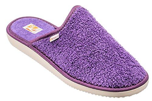 Bosaco zapatillas de lujo para las mujeres Bath Violeta 2