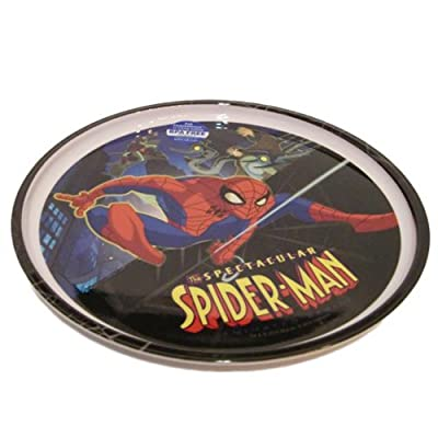 Spectactular Spiderman Plate - Boys Plastic Plate by Marvel: Toys & Games