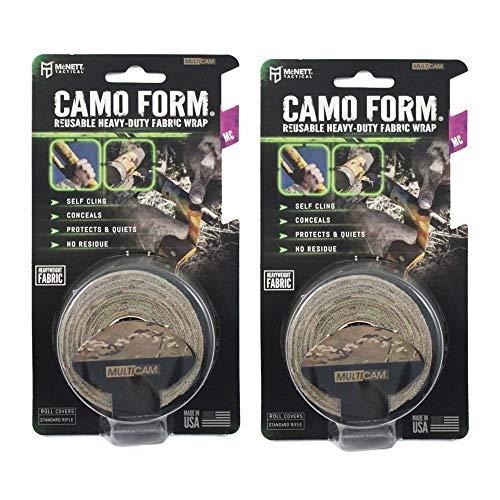 Mcnett Wrap Camo - McNett Tactical Camo Form Multicam Cling Wrap Reusable Heavy Duty Fabric Wrap - 2 Pack