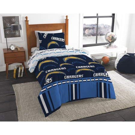 Official Los Angeles Chargers Twin Bed in Bag Set ()