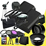 Two Canon EOS 70D DSLR Camera with 18-55mm STM f/3.5-5.6 Lens LP-E6 Lithium Ion Replacement Battery + 58mm 3 Piece Filter Kit + Full Size Tripod + 58mm Macro Close Up Kit + 58mm 2x Telephoto Lens + 58mm Wide Angle Lens + Carrying Case + External Flash + M