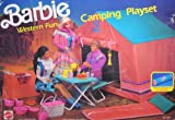 Barbie WESTERN FUN CAMPING Playset w SLEEPING Bag, TENT & MORE! (1990 Arco Toys, Mattel)