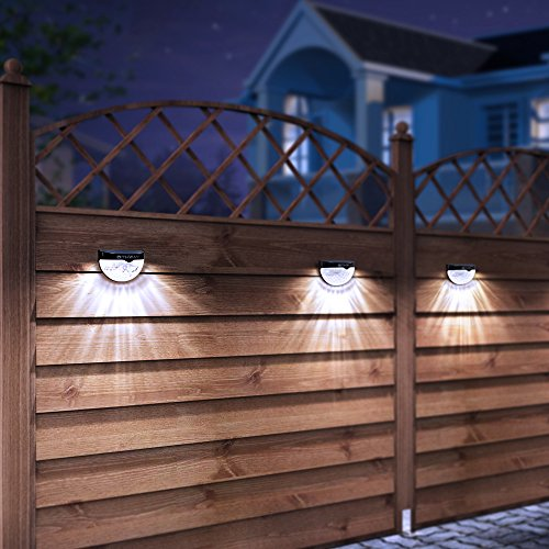 Othway solar fence post lights wall mount decorative deck import othway solar fence post lights wall mount decorative deck lighting black 4 packs aloadofball Gallery