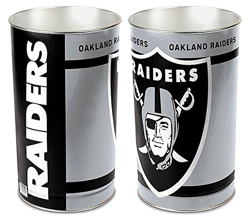 Oakland Raiders 15 Waste Basket - Licensed NFL Football Merchandise (Wastebasket Raiders)