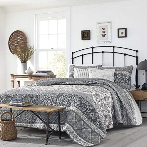 Quilt Abbey - Stone Cottage Abbey Quilt Set, King, Grey