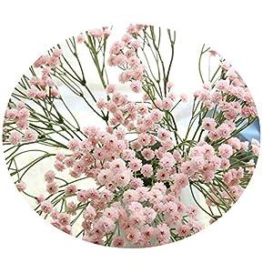 Miao Express 90 Heads Artificial Flowers False Baby's Breath Gypsophila Wedding Decoration Birthday DIY Photo Props Flower Heads Branch 48