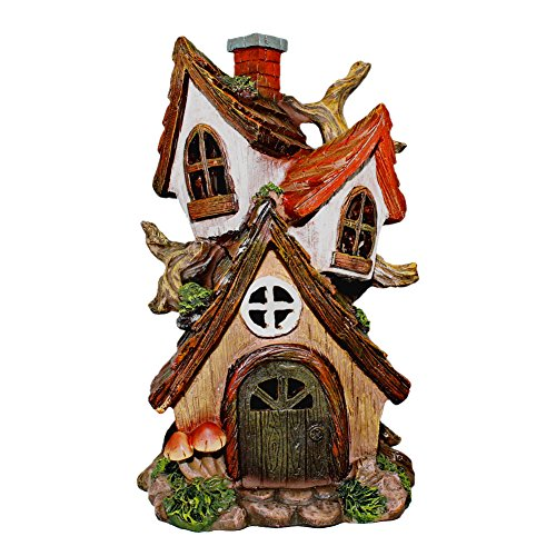 Delton Products Solar Powered Miniature Gnome House
