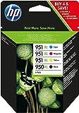 Купить HP 950XL/951XL Multipack Original Druckerpatronen (Schwarz, Blau, Rot, Gelb) mit hoher Reichweite für HP Officejet Pro