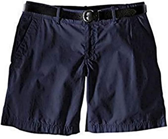 Shorts Bermudas Mujer de Eddie Bauer - algodón, Azul Oscuro, 100 ...