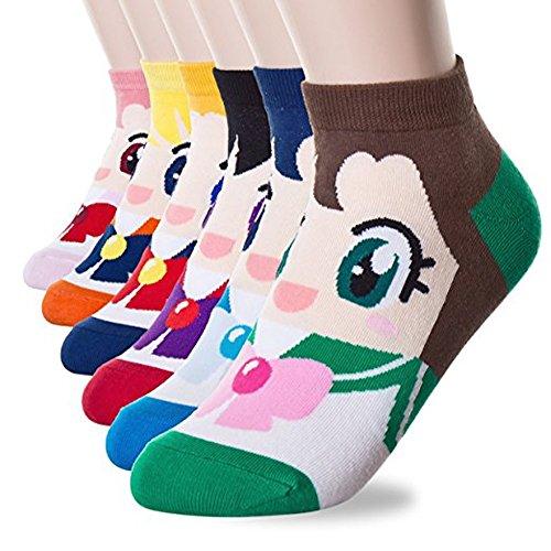 Happytree Famous Totoro Anime Cartoon Novelty Cotton Socks 3 to 6 Pack (Sailor Moon 6 Pairs) ()