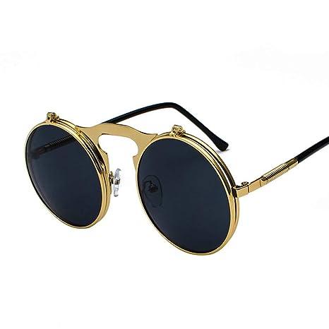 Vintage Metal Steampunk Flip Gafas de Sol, Verano Gafas de ...