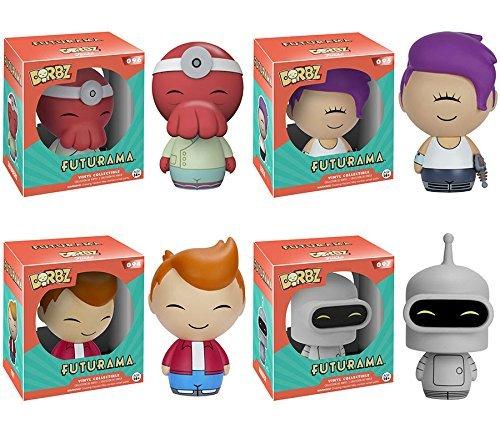 Dorbz: Futurama Zoidberg, Bender, Leela, Fry! Vinyl Figures Set of 4