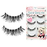 CJESLNA 5 Pair Thick Crisscross Long False Eyelashes Fake Eye Lashes Voluminous Makeup