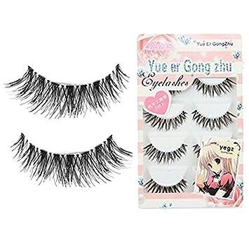 ee4bc975690 Amazon.com : CJESLNA 5 Pair Thick Crisscross Long False Eyelashes Fake Eye  Lashes Voluminous Makeup : Beauty
