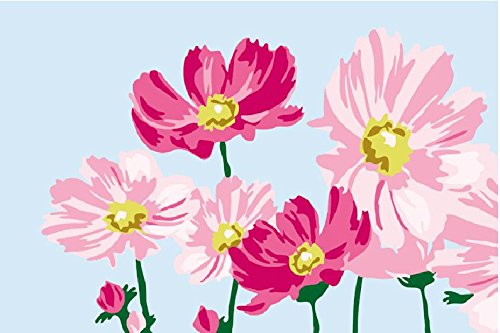 Diy oil painting, paint by number kits for kids – Beautiful flowers 20x30cm