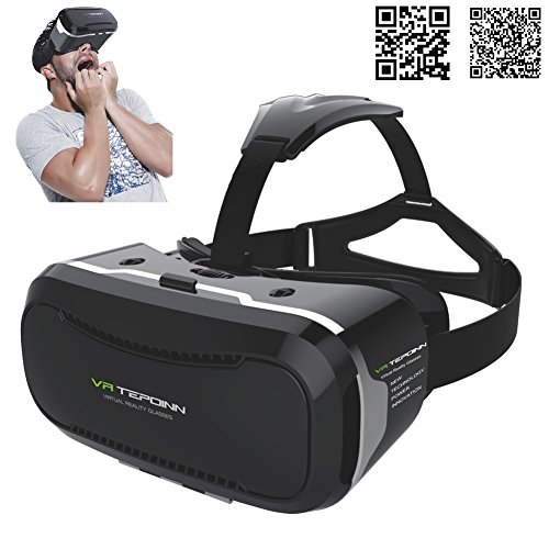 Tepoinn-Upgraded-Version-3D-Virtual-Reality-Headset-with-two-way-linkage-slot-and-magnet-front-cover-Movies-Games-For-IOS-Android-Smartphones-Series-within-35-57-inches