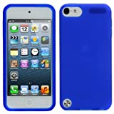 Evecase Silicone Skin Cover Case for Apple iPod Touch iTouch 5th Generation (2012 Version) (Blue)