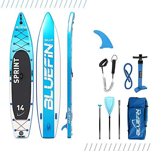 Bluefin-SUP-Aufblasbares-Steh-Paddle-Board-14-Sprint-Modell-TouringRace-Modell-Komplett-mit-allem-Zubehr