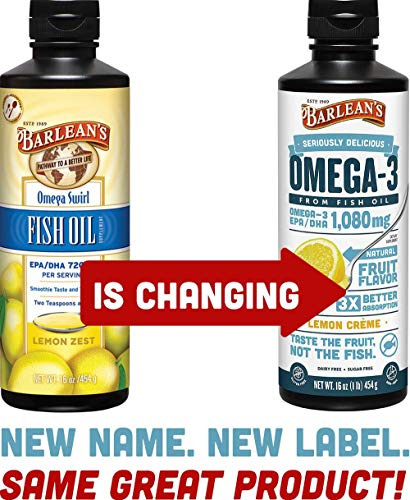 (Barlean's Seriously Delicious Omega-3 Fish Oil Lemon Creme, 16 Ounce (2 Pack) )