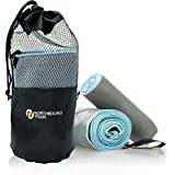 Camping Towel Set with Quick Dry Technology. Pack Towel and Travel Towel. Large Microfiber Towel and Sport Towel included