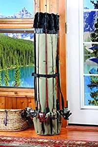 Fishing Rod Case Organizer & Reel Storage Case Bag Fishing Travel Carry Case Bag - Holds Up To 5 Rods and Reels