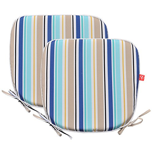 Garden Pad Chair (PacifiCasual Indoor/Outdoor Chair Pads Seat Garden Home Patio Chair Cushions (Blue 3))