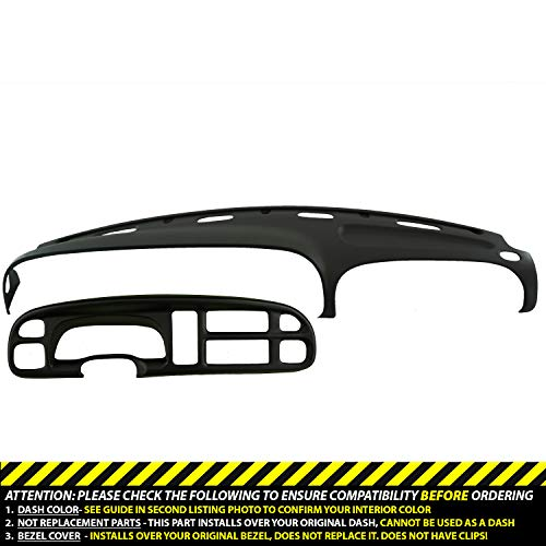 DashSkin Molded Dash & Bezel Cover Kit Compatible with 99-01 Dodge Ram in Black ()