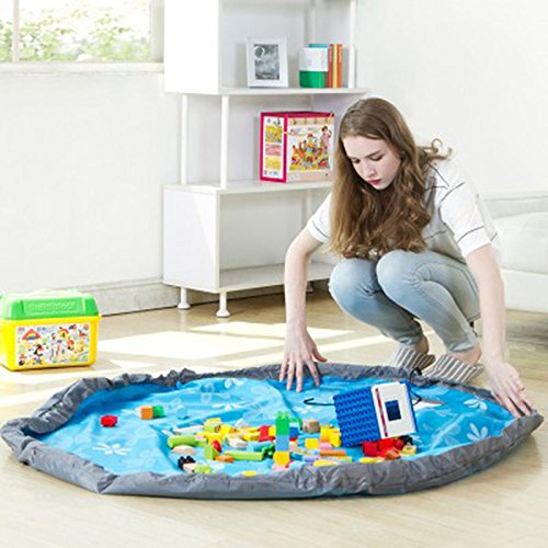 Portable Kids Toy Organizer Storage Bag And Play Mat Lego...