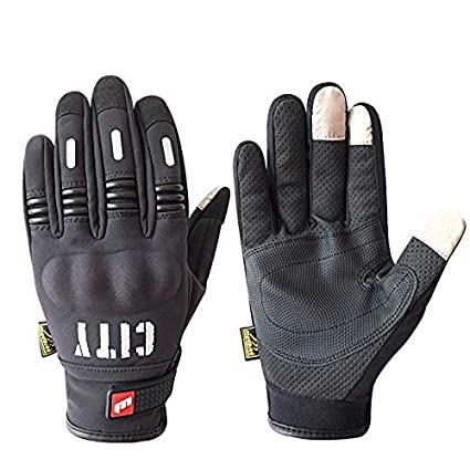 c7e8ff8eeec Motorcycle Gloves Touch Screen -Full Finger Motorbike Cycling Riding Gloves  Black for Women and Men