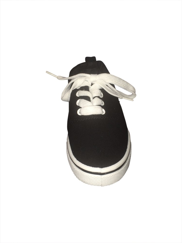 EpicStep Touch Me Tie up Slip on Sneakers (9, Black/White)