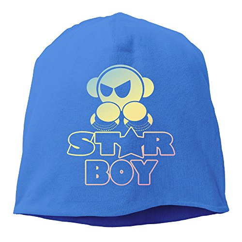 YUVIA Starboy Men's&Women's Patch Beanie Mountain ClimbingRoyalBlue Caps For Autumn And Winter (Daft Punk Without Costumes)