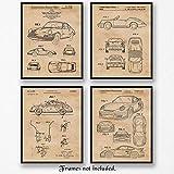 Original Porsche 911 Patent Art Poster Prints -...