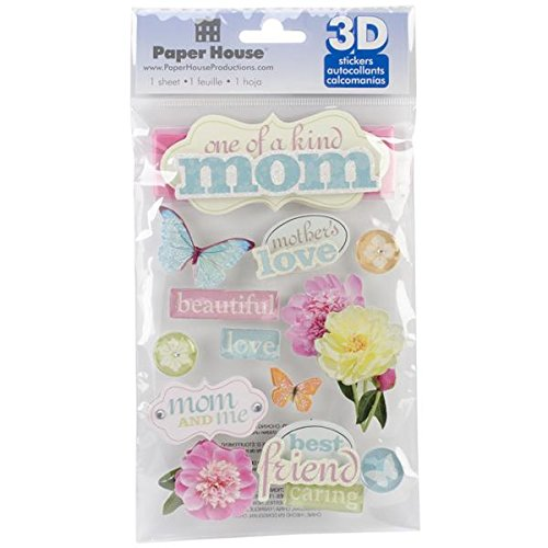 (Paper House Productions STDM-0192E 3D Cardstock Stickers, Mom)