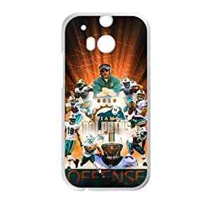 Hoomin Miami Dolphins Cool Stars HTC One M8 Cell Phone Cases Cover Popular Gifts(Laster Technology)