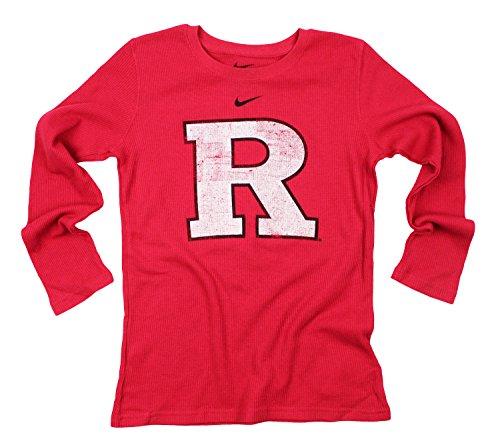 Nike Big Boys Youth NCAA Rutgers Scarlet Knights Thermal Long Sleeve Shirt, Red