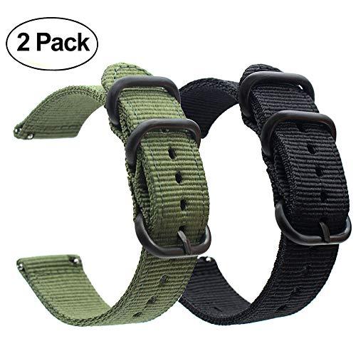 ViCRiOR Garmin Fenix 3/Fenix 5X Watch Band, Premium Woven Nylon Bands Adjustable Replacement Sport Strap with Metal Buckle for Garmin Fenix 5X/5X Plus/3/3 HR Smartwatch