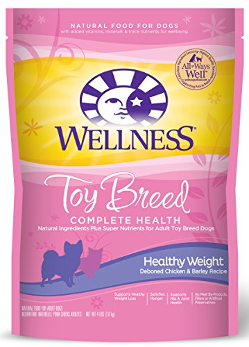 Wellness Complete Health Natural Dry Toy Breed Healthy Weight Dog Food, Chicken & Barley, 4-Pound Bag