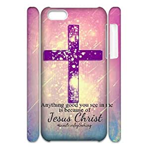 Diy Jesus Christ Cross Phone Case for iphone 5c 3D Shell Phone JFLIFE(TM) [Pattern-1]