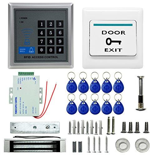 EDTara Sistema de control de acceso de la puerta de la cerradura de la puerta eléctrica Kit Sistema de la contraseña de la...
