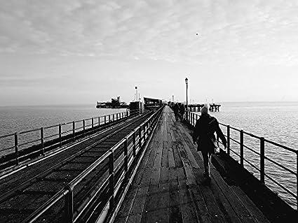 Laminated poster pier black white southend sea poster print 24 x 36