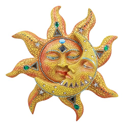 Aztec Wall Mount - Ebros Mosaic Sun and Moon Wall Decor 12