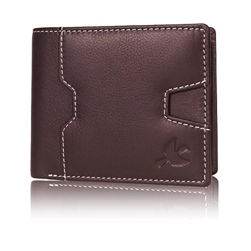 Hornbull Edward Brown Mens Genuine Leather RFID Blocking W