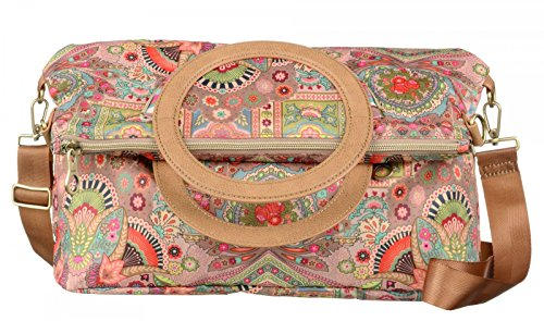 Oilily Folding City Shoulder Bag Biscuit