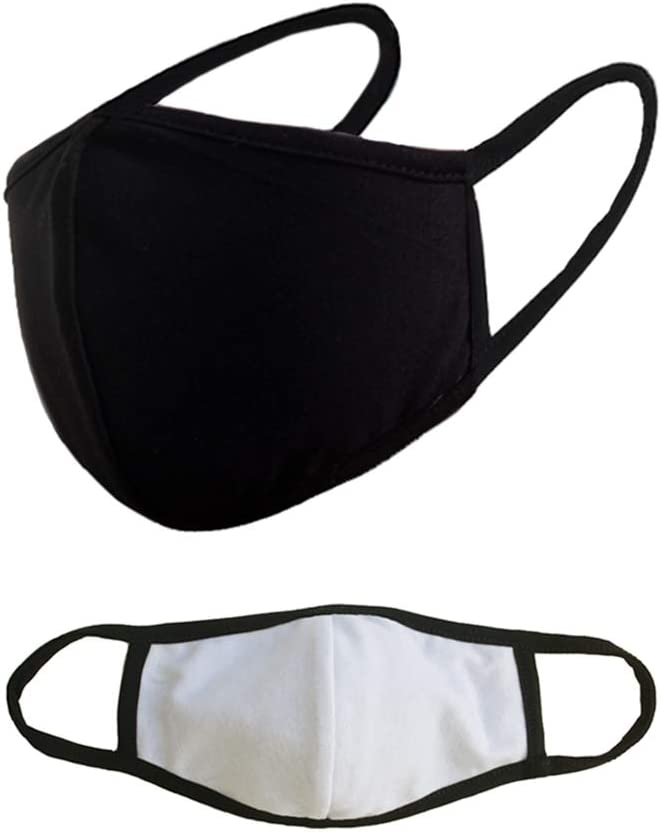 3 Packs Unisex Reusable Mouth Cotton Mask Without Filter Hole