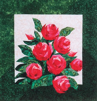 Amazon English Roses Foundation Paper Piecing Pattern 60 X Interesting Rose Quilt Pattern