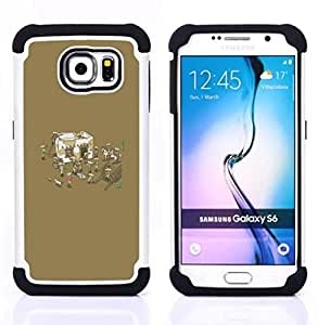 - Funny Mexican Party/ H???¡¯????brido 3in1 Deluxe Impreso duro Soft Alto Impacto caja de la armadura Defender - SHIMIN CAO - For Samsung Galaxy S6 G9200