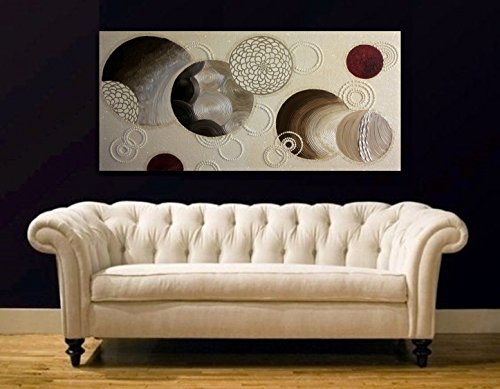 Original abstract Galaxy circles oil painting, bronze-pearl-bordeaux large wall painting on canvas , Modern wall art, house decor artwork.