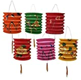 DMtse 12cm x 15cm Pack Of 12 Mix Color Chinese New Year Paper Lanterns (Medium) 12 Pack (Assorted )        Superb for Parties,Chinese New Year , Chinese Moon Festival , Weddings and other festivals displays. A pack of 12 assorted colou...