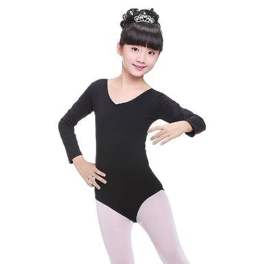 db41709346743 KINDOYO Kids Girls Basic Long Sleeve/Short Sleeve Ballet Dancing Leotard  Gymnastic Dress Training Costume Dancewear, Pink: Amazon.co.uk: Clothing